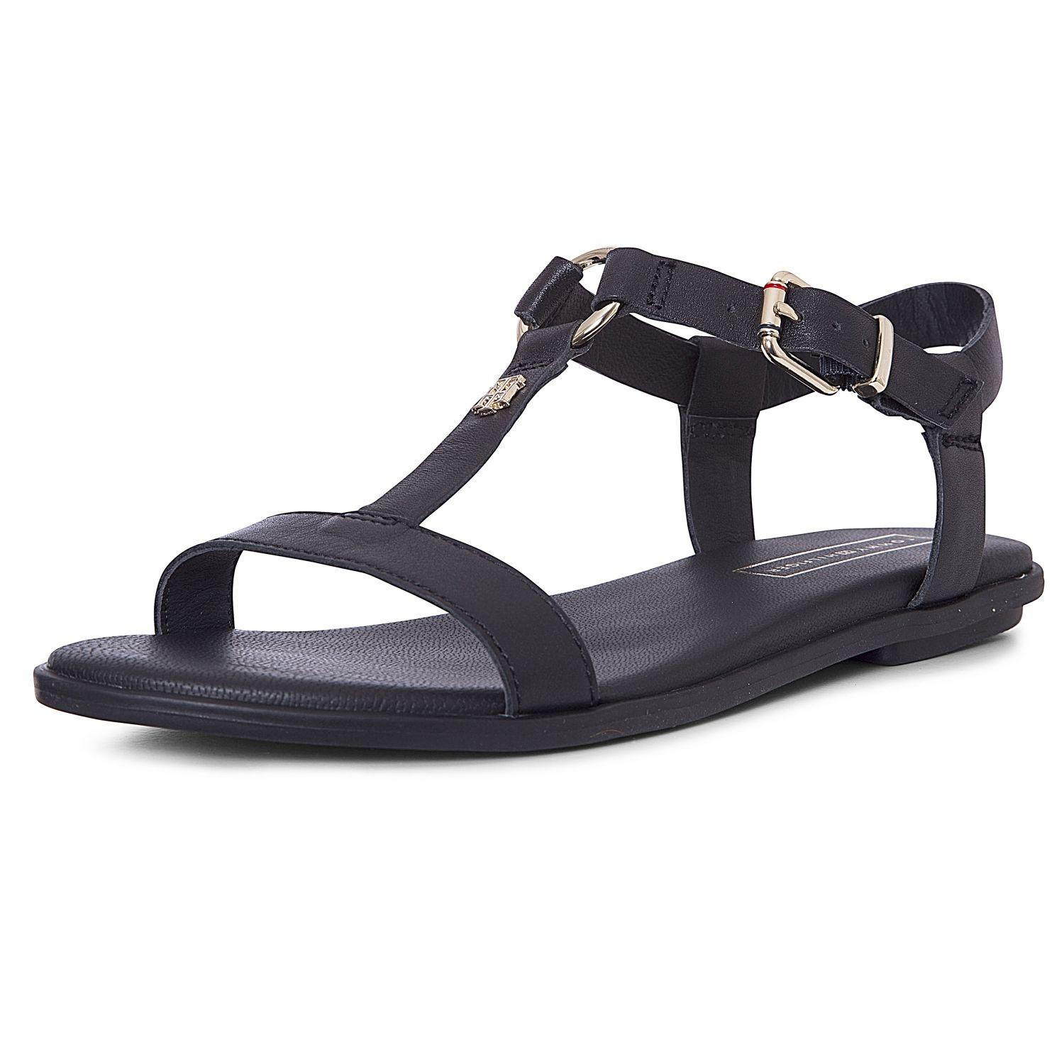 cb5ae337ce Damen Sandale Elevated Leather Flat Sandal von Tommy Hilfiger ...