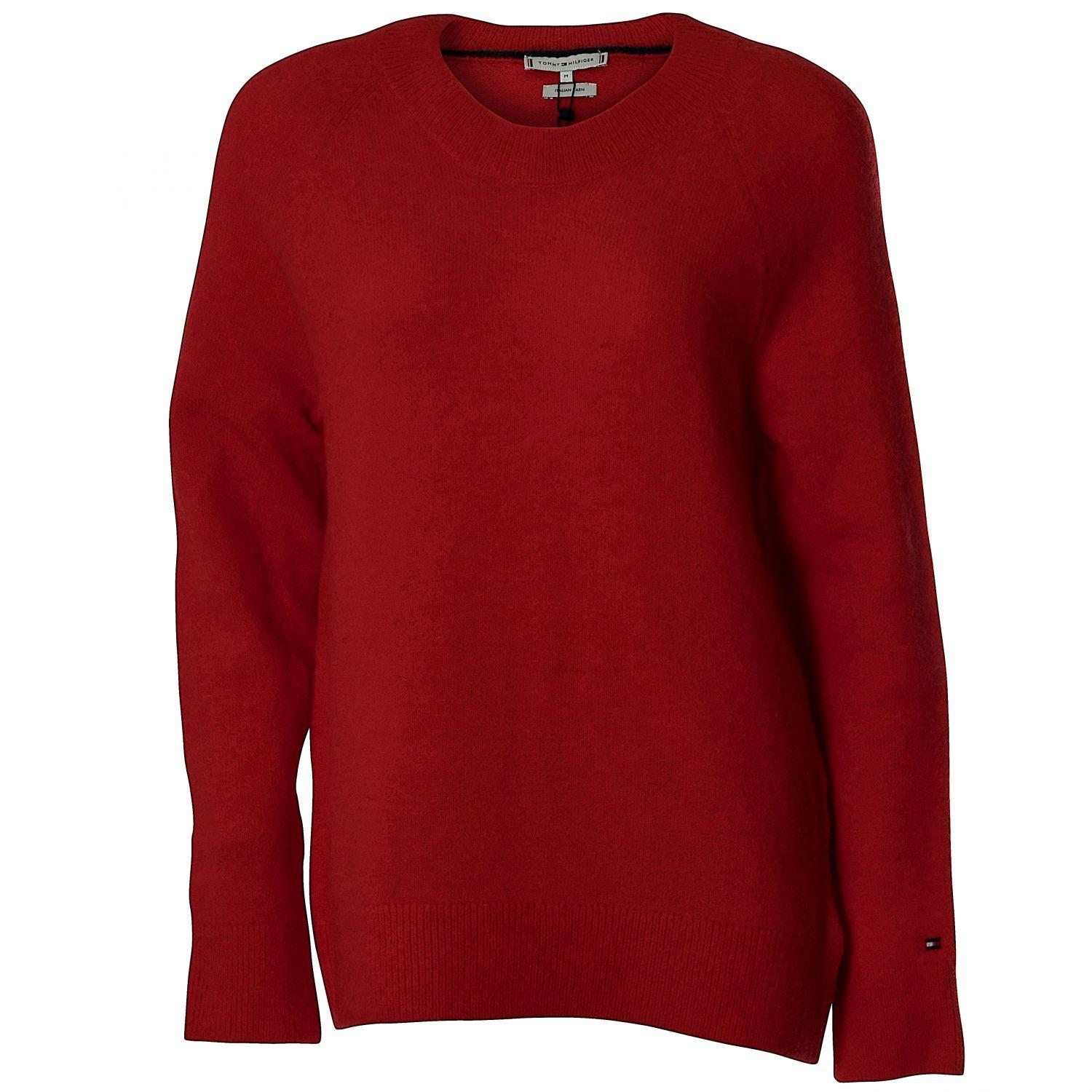 c1b60b4cecf1ce Tommy Hilfiger Vallis Round-NK SWTR Pullover Damen, rot ...