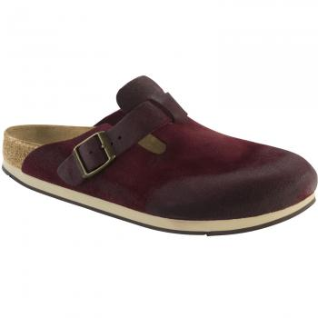 Boston Veloursleder Clogs schmal