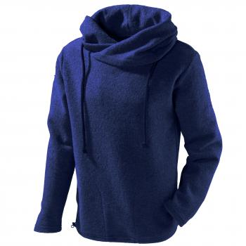 Mu- Lucca W100 Wollpullover mit Oversize-Kapuze