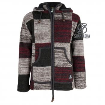 M Patch ZH Strickjacke Patchwork Herren