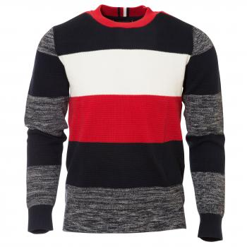Allover Global Stripe Sweater Strickpullover Herren