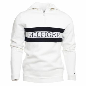 Chest Branded Zip Mock Pullover Herren