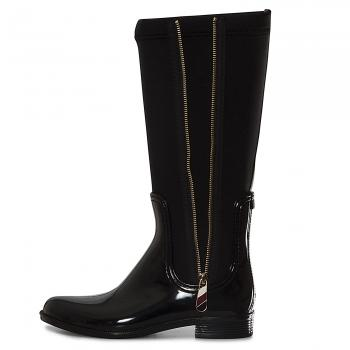 Material Mix Long Rain Boot Gummistiefel Damen