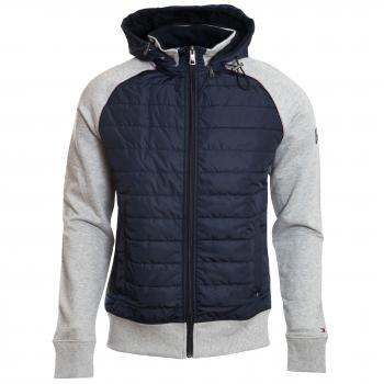 Mixed Media Hooded Zip Through Sweatjacke Herren