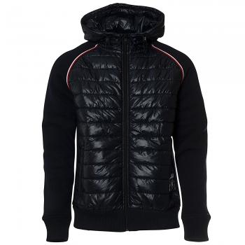 Mixed Media Wool Zip Hybridjacke Herren