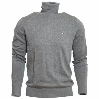 Organic Cotton Silk Roll Neck Rollkragenpullover Herren