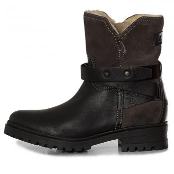Warm Cleated Biker Boot Stiefeletten Damen