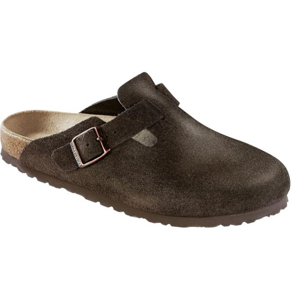 Boston Veloursleder Clogs Unisex 1