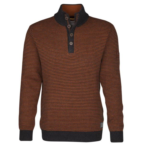 Stand up Two Tone Pullover Troyer Herren 1